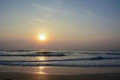 Sunset at Sampraya beach in Samroiyod nation park, Pranburi,Thailand Stock Photography