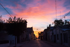 Sunset in San Antonio de Areco Argentina royalty free stock photography