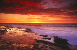 Sunset in San Diego Royalty Free Stock Images