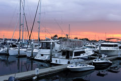 Sunset on the San Diego Harbor Royalty Free Stock Photography