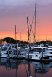 Sunset on the San Diego Harbour Royalty Free Stock Photo
