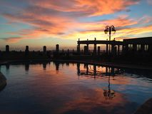 Sunset in San Diego. Sunset reflection in San Diego royalty free stock photography
