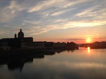 Sunset from the San Frediano in Cestello royalty free stock image