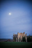 Sunset on San Galgano Abbey, Tuscany Stock Image