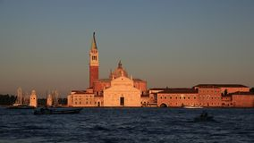 Sunset San Giorgio church, venice Stock Image