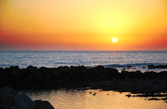 Sunset at San Leone Agrigento royalty free stock photos