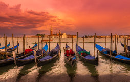 Sunset in San Marco square, Venice Royalty Free Stock Image