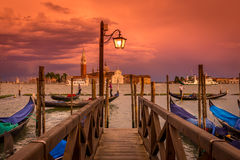 Sunset in San Marco square, Venice Stock Images