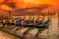 Sunset in San Marco square, Venice Stock Photos