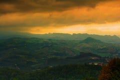 Sunset from San Marino Royalty Free Stock Photography