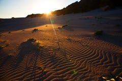 Sunset in sand desert, Cyprus Stock Image
