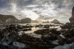 Sunset at Sand Dollar Beach. CA., south of Big Sur Stock Photos
