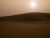 Sunset at sand dune Royalty Free Stock Image