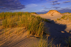 Sunset on sand dunes Royalty Free Stock Images