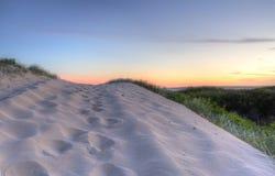 Sunset Sand Dunes Stock Photos