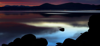 Mystical Sand Harbor Sunset Royalty Free Stock Images