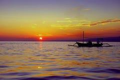 Sunset sand the sea Stock Photo