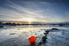 Sunset at Sandbanks in Dorset Stock Image