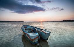 Sunset at Sandbanks in Poole Stock Images
