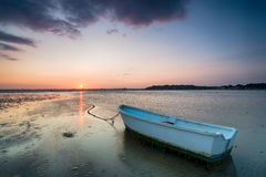 Sunset at Sandbanks in Poole Royalty Free Stock Photography