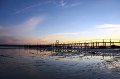Sunset at Sandbanks Stock Photography