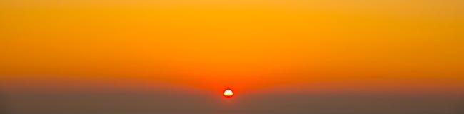 Sunset. In Sandorini in orange colors Stock Image