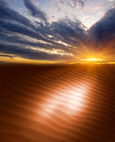 Sunset in sands Stock Images