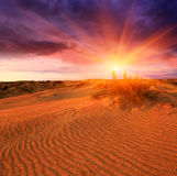 Sunset in sands Royalty Free Stock Images