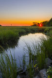 Sunset Sandy Hook Stock Image