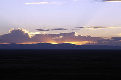 Sunset in the Sangre De Cristo Mountains. Stock Images