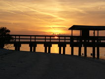 Sunset at Sanibel Island Stock Image