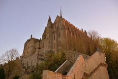Sunset at Sant-Michel. Sunset at Mont Sant-Michel Chapelle (FRance Stock Photography