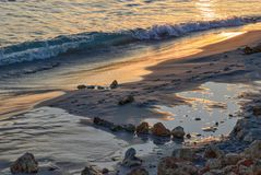 Sunset in sant tomas, minorca, spain Stock Photo