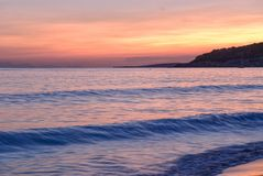 Sunset in sant tomas, minorca, spain Royalty Free Stock Photo