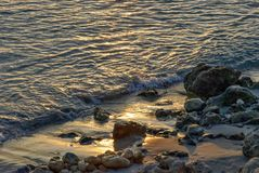 Sunset in sant tomas, minorca, spain Royalty Free Stock Images