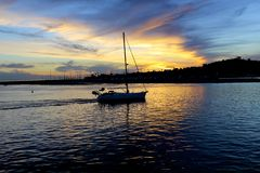Sunset Santa Barbara California Stock Images