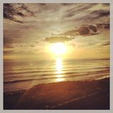 Sunset in Santa Barbara Royalty Free Stock Photography