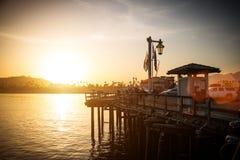 Sunset in Santa Barbara Royalty Free Stock Images