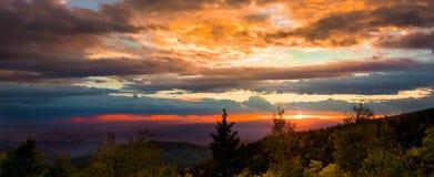 Sunset at Santa Fe Ski Basin Royalty Free Stock Images