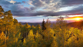 Sunset at Santa Fe Ski Basin Royalty Free Stock Photography