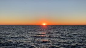 Sunset in Santa Monica Beach stock video footage
