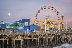 Sunset at Santa Monica Pier Stock Photos