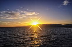 Sunset Santa Monica Pier california Royalty Free Stock Image