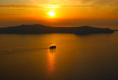 Sunset in Santorini Royalty Free Stock Image