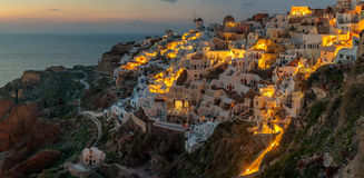 Sunset in Santorini Royalty Free Stock Images