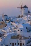 Sunset in Santorini Stock Images