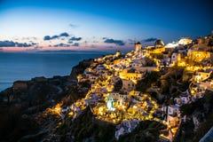 Sunset in Santorini Stock Photos