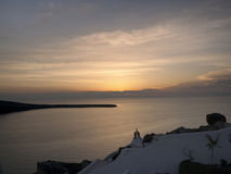 Sunset at Santorini, Greece Stock Photo