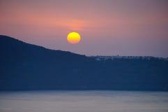 Sunset in Santorini,Greece. Royalty Free Stock Photos