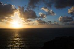 Sunset at Santorini, Greece Stock Photos